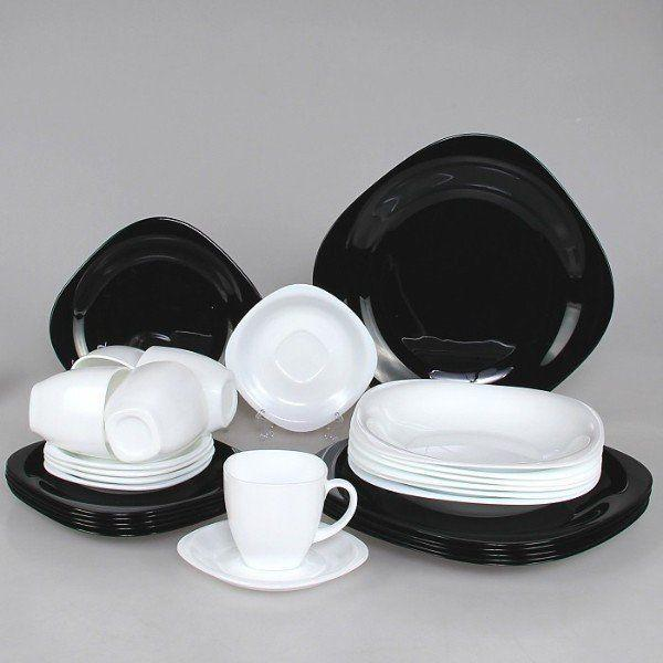 Luminarc Carine Black/White Сервиз 30пр d2382