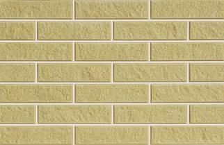 Плитка фасадная LAND BRICK колотая желтая 250х25х65 мм