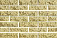 Плитка фасадная LAND BRICK скала желтая 250х20х65 мм