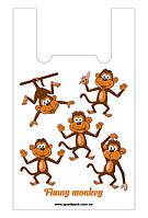 Пакеты майка 29*47 Веселые обезьянки, GoodPack