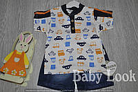Комплект: футболка и джинсовые легкие шорты для мальчика