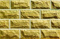 Плитка цокольная LAND BRICK желтая 250х22х120 мм