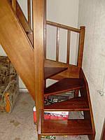 """Лестница """"гусиный шаг"""" с поворотом"""