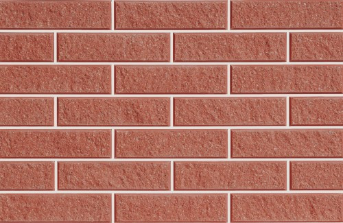 Плитка фасадная LAND BRICK колотая красная 250х22х65 мм