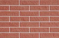 Плитка фасадная LAND BRICK колотая красная 250х25х65 мм