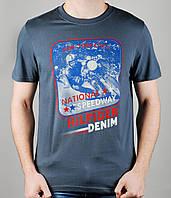 Мужская футболка TOMMY HILFIGER 3999 Тёмно-серая