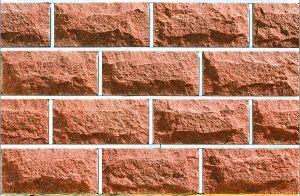 Плитка цокольная LAND BRICK красная 250х22х120 мм