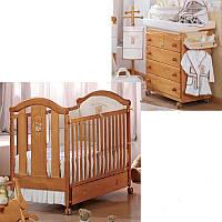 Комплект мебели для детской FANTASIA LUXE COFFEE (кроватка, комод, ящик) Кофе (FANTASIA LUXE COFFE/K3)