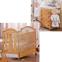Комплект мебели для детской FANTASIA LUXE HAZELNUT (кроватка, комод, ящик) Орех (FANTASIA LUXE HAZEL/K3)