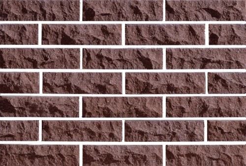 Плитка фасадная LAND BRICK скала коричневая 250х20х65 мм
