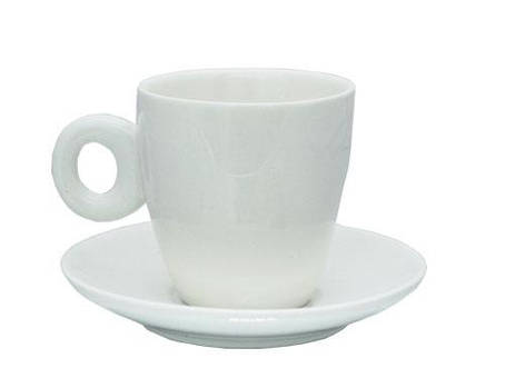Набор чашка с блюдцем фарфоровая 100 мл, фото 2