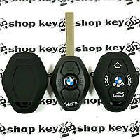 Чехол (черный, силиконовый) для авто ключа BMW (БМВ) 3 кнопки