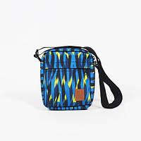 Мессенджер сумка через плечо разноцветная Tomen Wave Blue Red and Dog