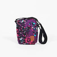 Мессенджер сумка через плечо разноцветная Tomen Blur Purple Red and Dog