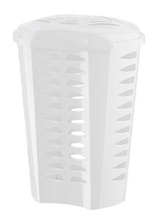 Корзина для белья 60л, GASTONE, белая 132/white