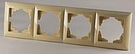 Рамка четырехместная крем Gunsan VISAGE