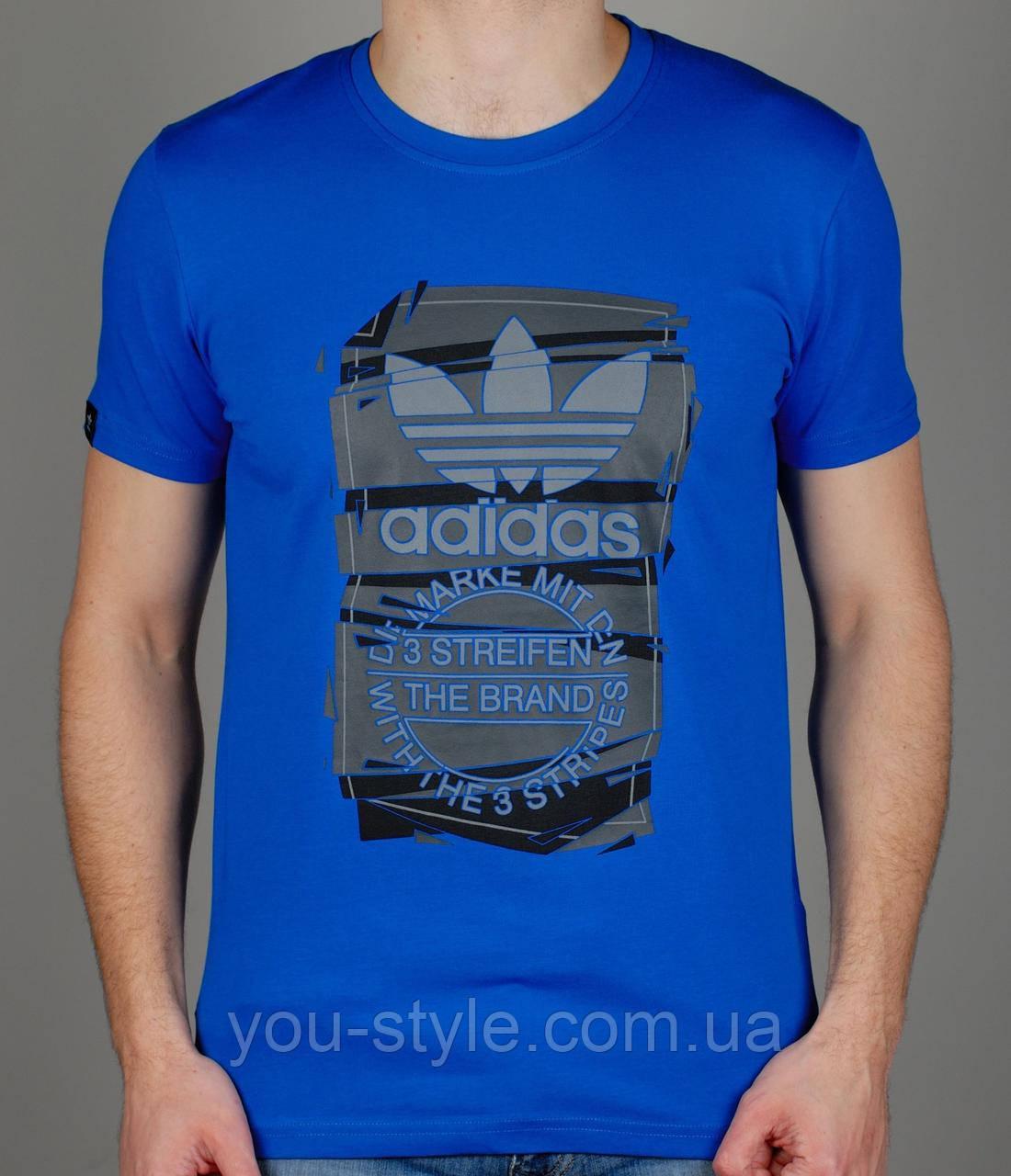 Чоловіча футболка ADIDAS 4025 Синя