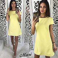 Платье женское короткое на лето креп-костюмка 5 цветов 2SMmil1484