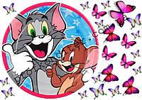 """Вафельная картинка """"Том и Джерри - 2"""