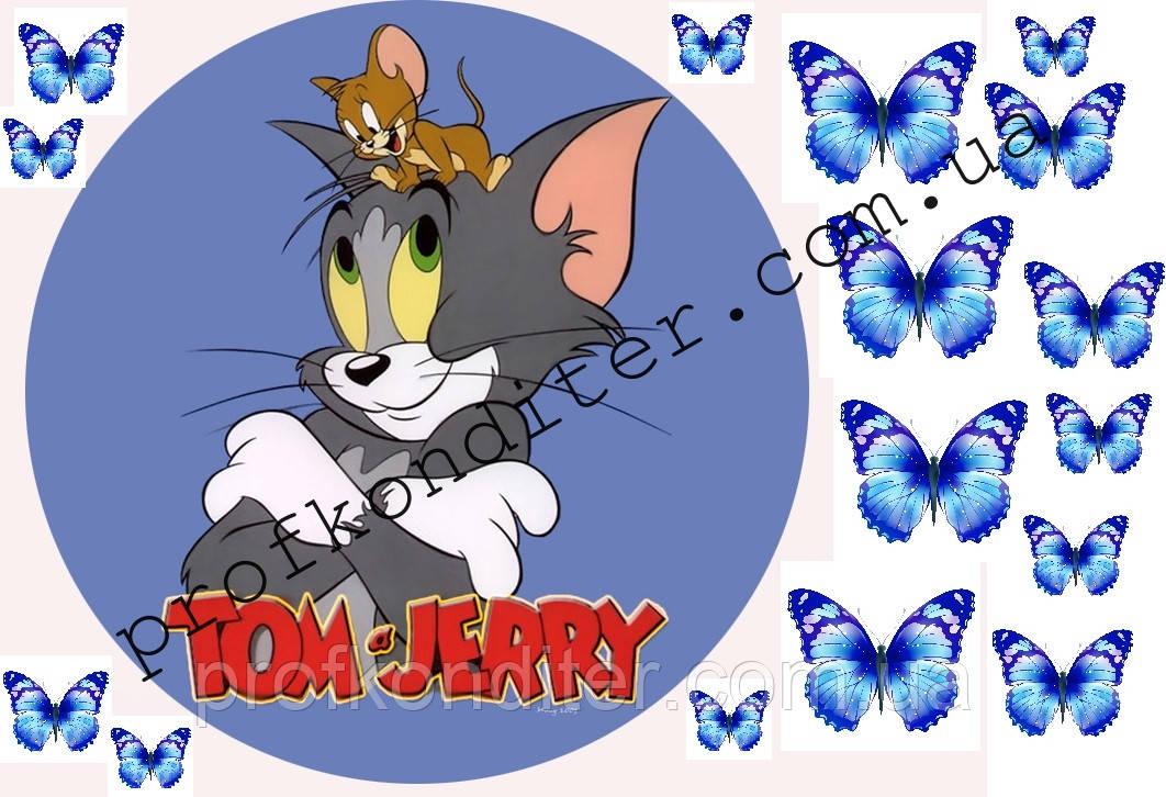 """Вафельная картинка """"Том и Джерри - 3"""