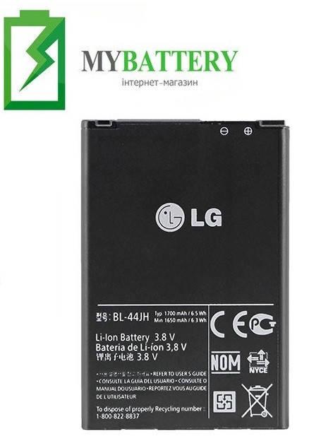 Оригинальный аккумулятор АКБ батарея LG BL-44JH 1700mAh