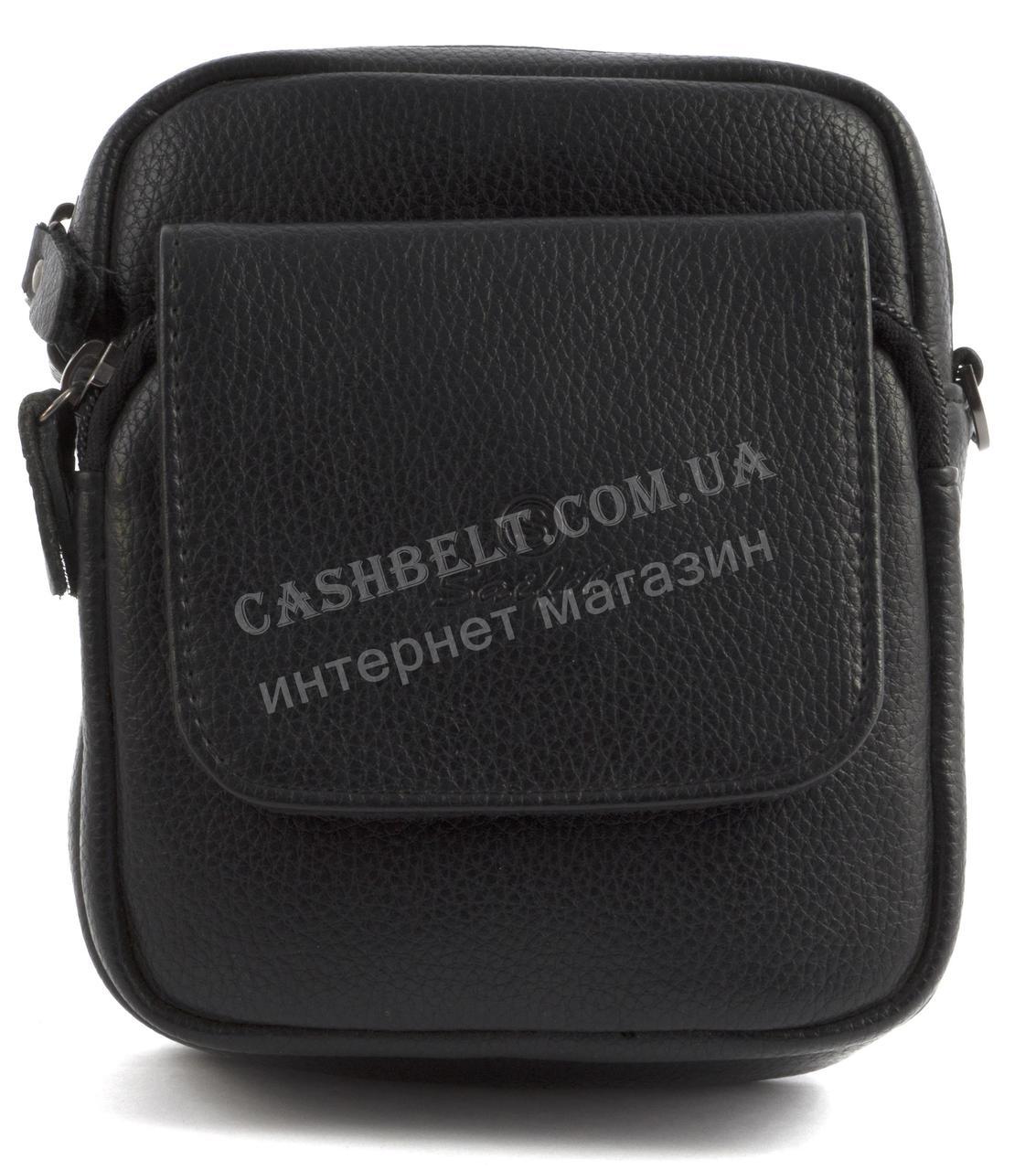 Зручна маленька міцна чоловіча сумка з якісної шкіри PU SAIFILO art. SF2002 чорний