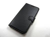 Кожаный чехол книжка Motorola Moto G4 / Moto G4 Plus (черный)