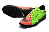 Футбольные сороконожки Nike HyperVenom Phelon III TF Electric Green/Black/Hyper Orange, фото 1