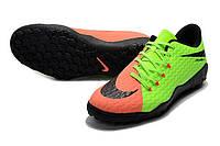Футбольные сороконожки Nike HyperVenom Phelon III TF Electric Green/Black/Hyper Orange, фото 1