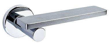 Ручка дверная dnd Martinelli   Minima на круглой розетке VIS, матовый хром