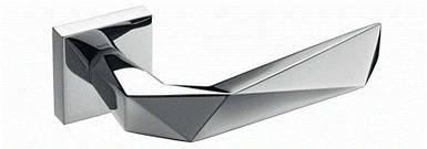 Ручка дверная dnd Martinelli   Luxury 02 на квадратной розетке VIS, хром