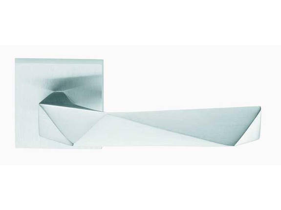 Ручка дверная dnd Martinelli   Luxury 02 на квадратной розетке VIS, матовый хром, фото 2