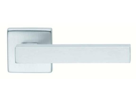 Ручка дверная dnd Martinelli   Stick 02 на квадратной розетке VIS, матовыйхром, фото 2