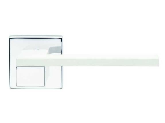 Ручка дверная dnd Martinelli   Esa на квадратной розетке VIS, хром-белый, фото 2