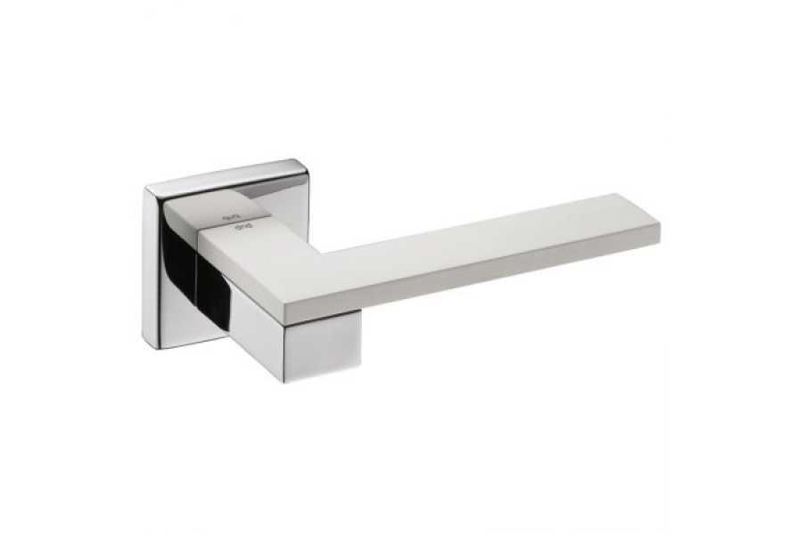 Ручка дверная dnd Martinelli   Esa на квадратной розетке VIS, хром-матовый хром