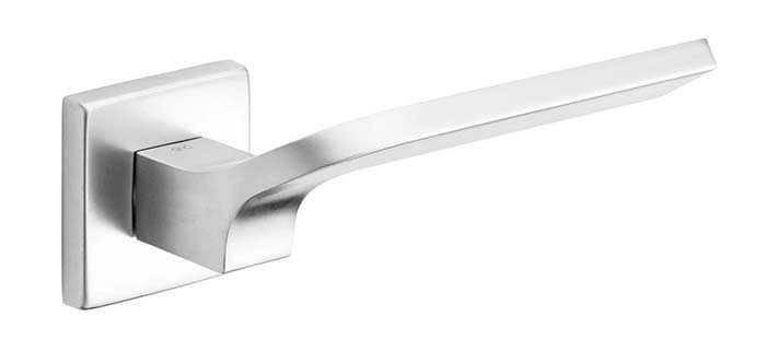 Ручка дверная dnd Martinelli   Joy 02 на квадратной розетке VIS, матовый хром, фото 2