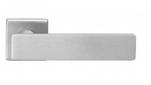Ручка дверная dnd Martinelli   Holly на квадратной розетке VIS, матовый хром