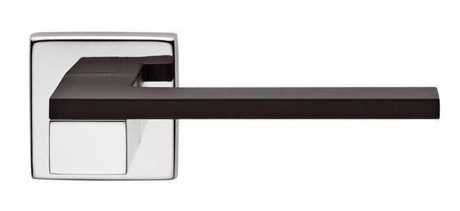 Ручка дверная dnd Martinelli   Esa на квадратной розетке VIS, хром-черный