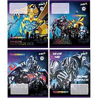 Тетрадь, Transformers, 12 листов, линейка   TF17-234