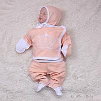 Трехпредметник для новорожденных Queen (персик), фото 1