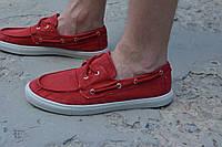 Мужские мокасины красные, фото 1