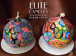 Круглі свічки ELITE CANDLES - тільки оригінальні декоративні свічки ручної роботи