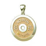 Подвеска серебряная Диск,Блин для Штанги No pain No gain ПС-50 Б, фото 4