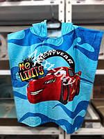 Пляжное полотенце \ пончо Тачки blue 2 Турция
