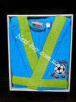 Детский халат Altinbasak football с капюшоном хлопок Турция