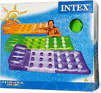 """Пляжный надувной матрас Intex, 58890 """"Стакан"""" (188*71 см)"""