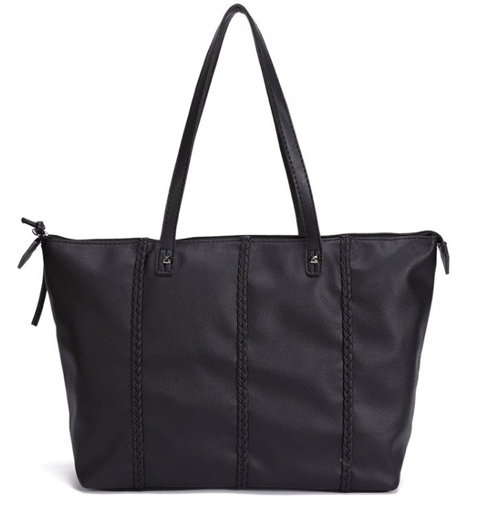 Большая женская сумка с косичками