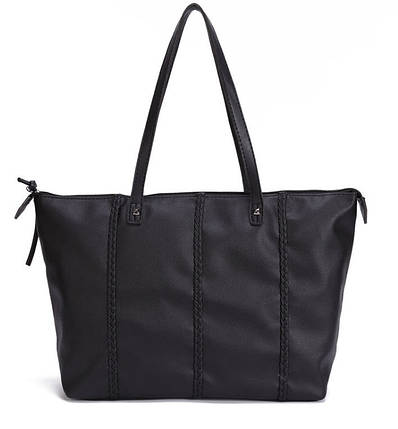 Большая женская сумка с косичками, фото 2