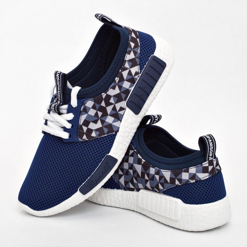 Женские кроссовки синие (Код: 2010)