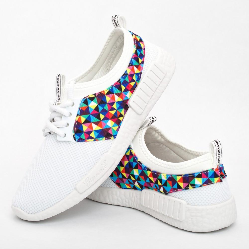Женские кроссовки белые (Код: 2010)
